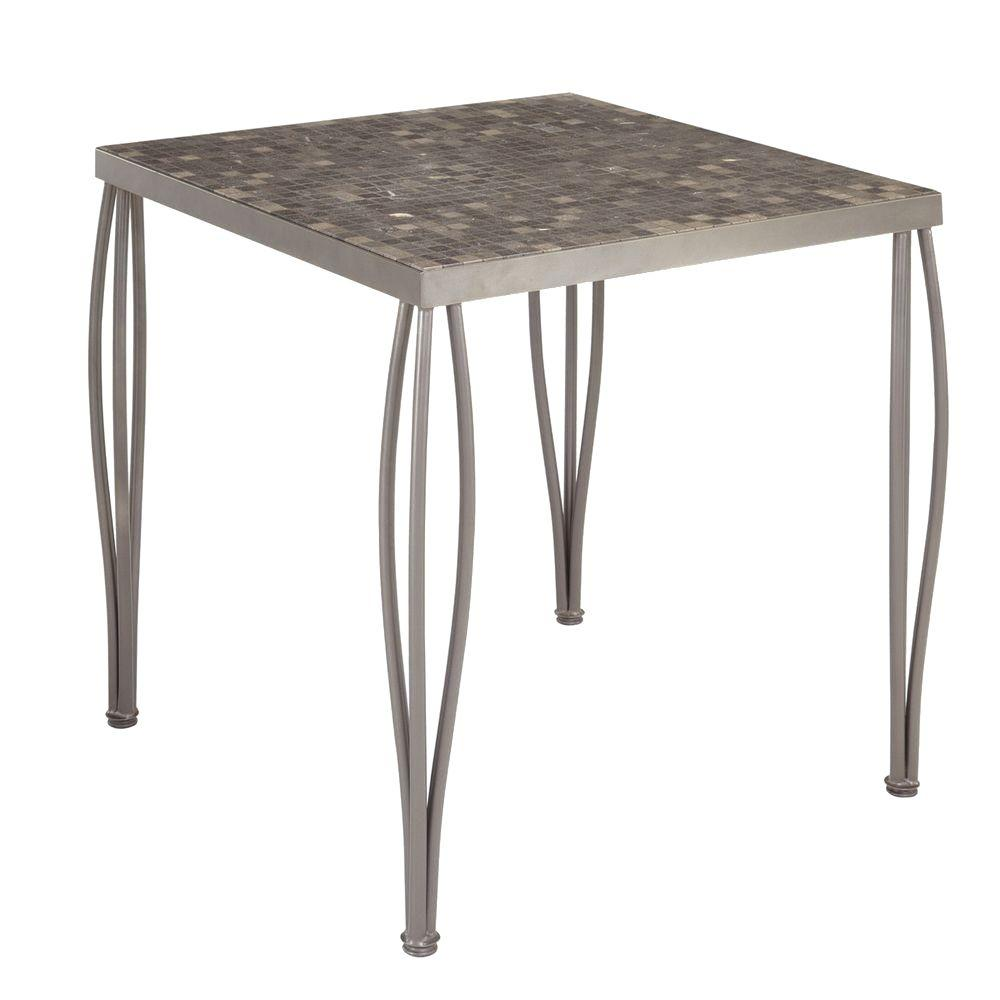 Glen Rock 36 in. Marble Square Patio High Dining Bistro Table