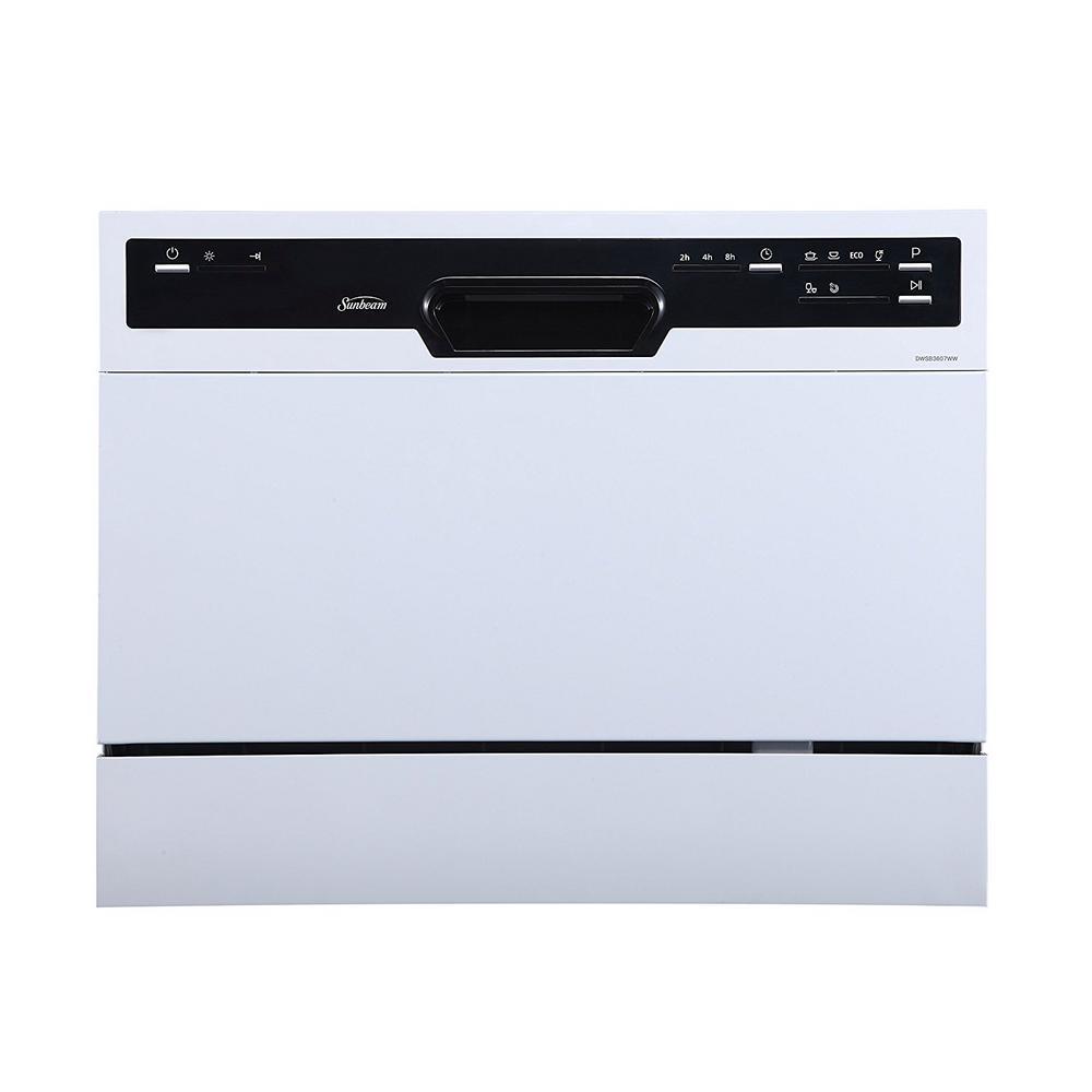 Portable Countertop Dishwasher, White
