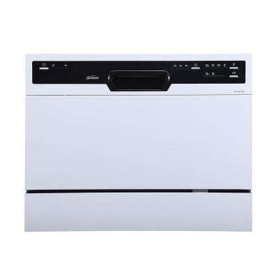 Portable Countertop Dishwasher, White
