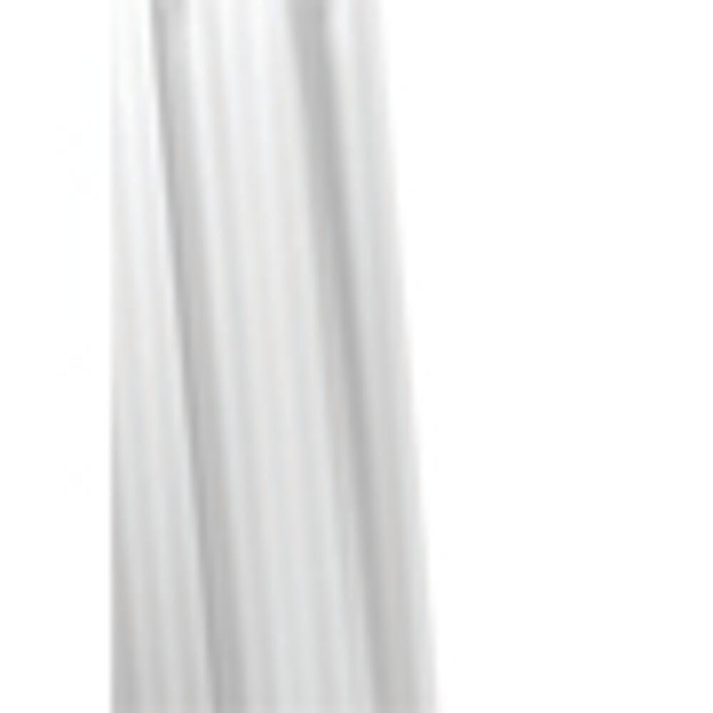 Croydex 70-7/8 in. Stripe Shower Curtain in White