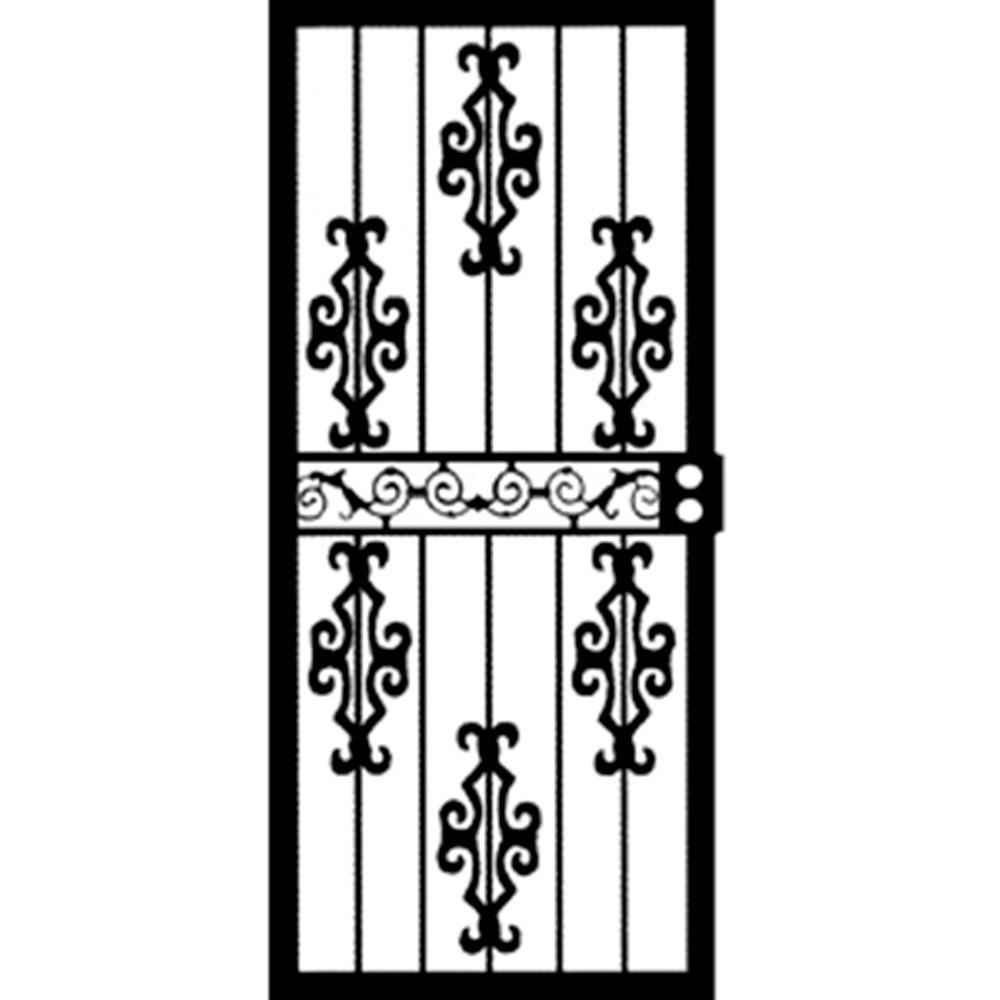 Grisham 32 in. x 80 in. 466 Series Black Chicago Security Door