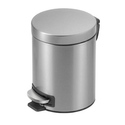 1.3 Gal. Stainless Steel Round Step On Trashcan