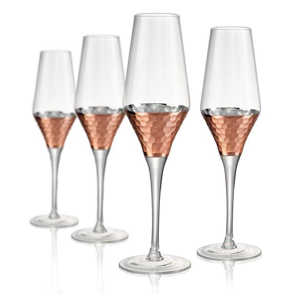 8 oz. Hammered Champagne Flute (Set of 4)