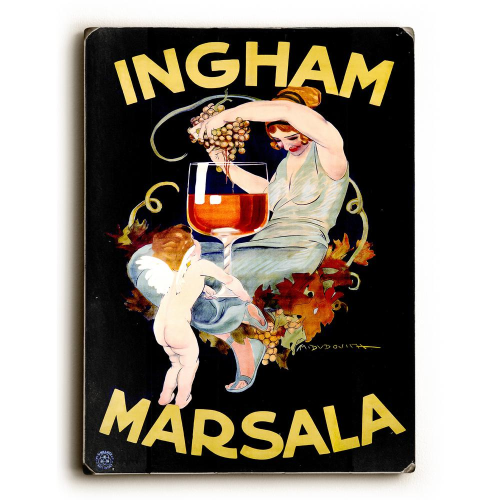 "ArteHouse 9 in. x 12 in. ""Ingham Marsala Wine"" by Marcell..."
