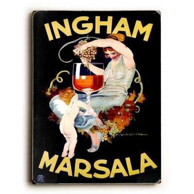 "9 in. x 12 in. ""Ingham Marsala Wine"" by Marcello Dudovich ""Solid Wood"" Wall Art"