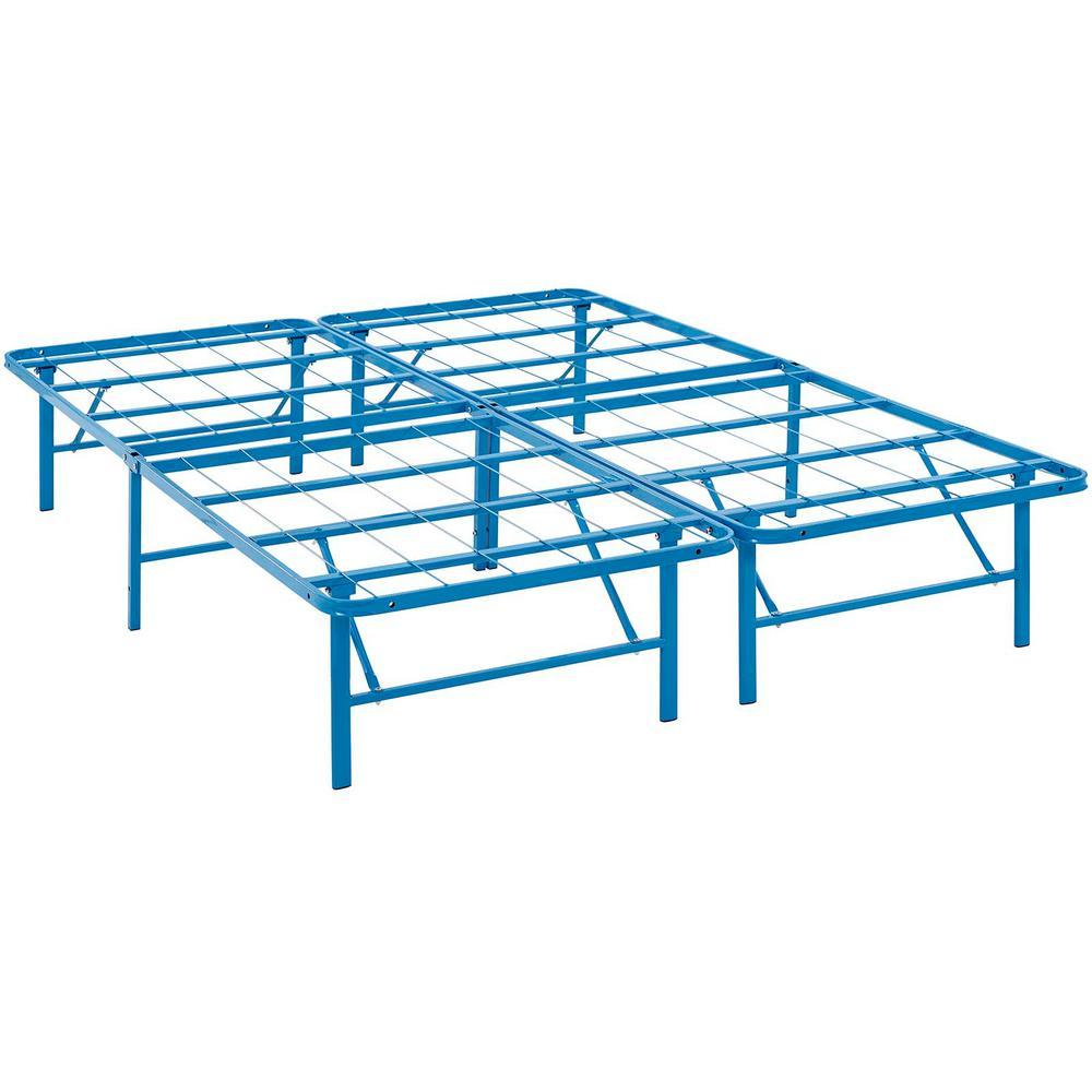 Horizon Light Blue Full Stainless Steel Bed Frame