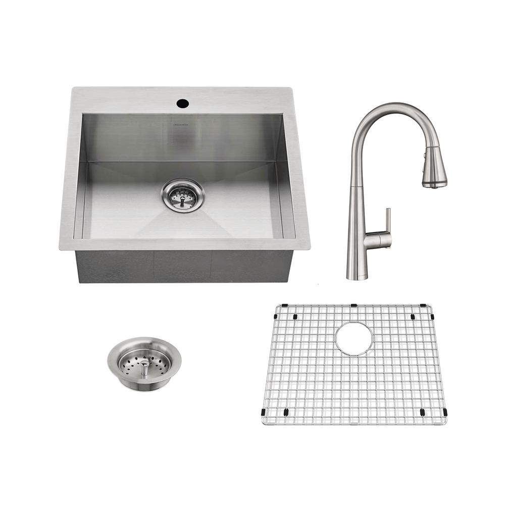 American Standard Edgewater All-in-One Undermount Stainless Steel 25 ...