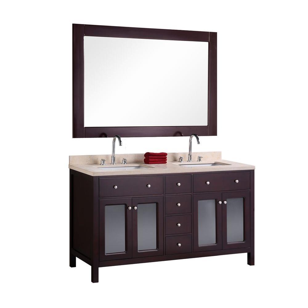 White Marble Top White Mirrors Photo 1283