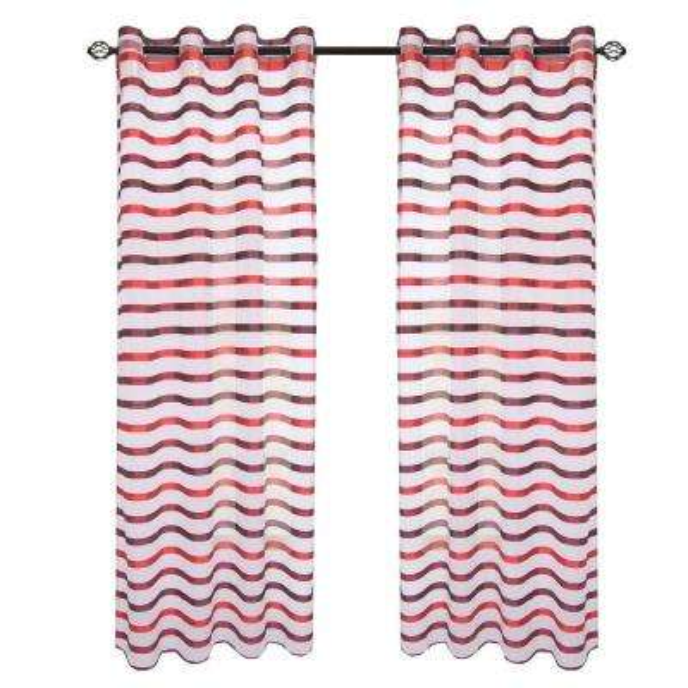 Wine/Red Sonya Grommet Curtain Panel, 108 in. Length