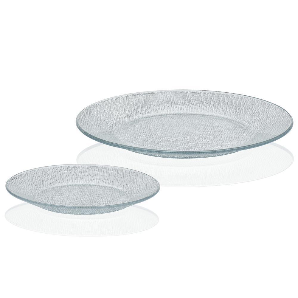 Yute 12-piece Clear Glass Dinnerware Set