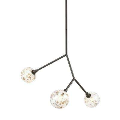 Malena 3-Light Antique Bronze Pendant with LED Bulbs