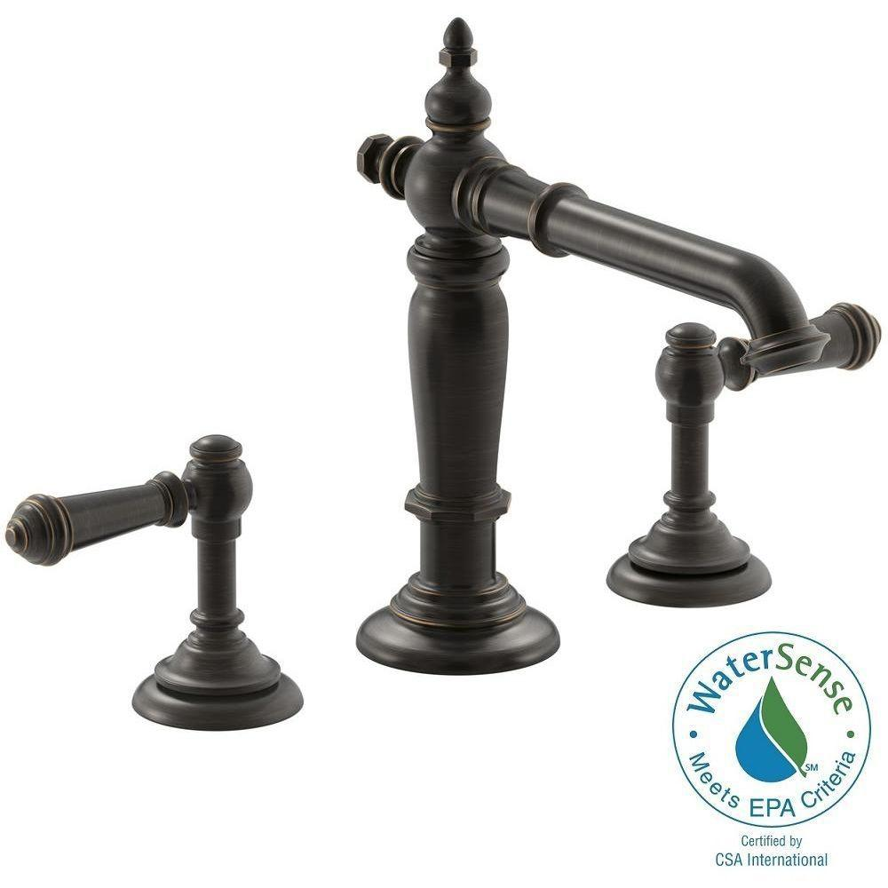 Superb KOHLER Artifacts 8 In. Widespread 2 Handle Column Design Bathroom Faucet In Oil  Rubbed Bronze With Lever Handles K 72760 2BZ 98068 4 2BZ   The Home Depot Amazing Ideas