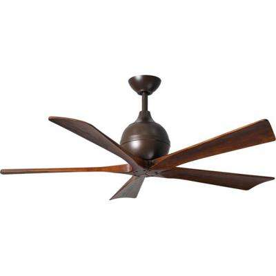 Irene 52 in. Indoor/Outdoor Textured Bronze Ceiling Fan with Remote Control and Wall Control