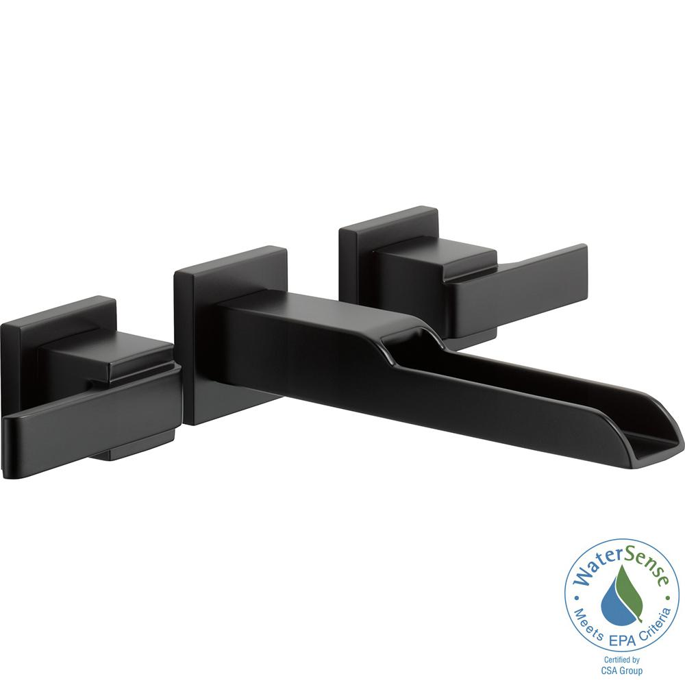 Ara 2-Handle Wall Mount Bathroom Faucet Trim Kit with Channel Spout