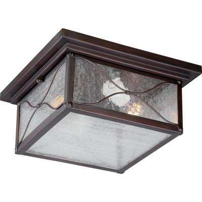 Avery Classic Bronze 2-Light Outdoor Flush Mount