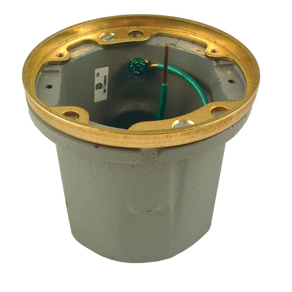RACO Cast Iron Floor Box, Round Non-Adjustable for Poured Concrete, Tile, or Wood Floors (Does Not Include Lid)