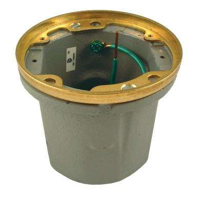 Cast Iron Floor Box, Round Non-Adjustable for Poured Concrete, Tile, or Wood Floors (Does Not Include Lid)