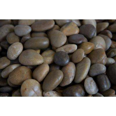 0.5 in. to 1.5 in., 20 lb. Small Mixed Grade A Polished Pebbles (108-Pack/Pallet)
