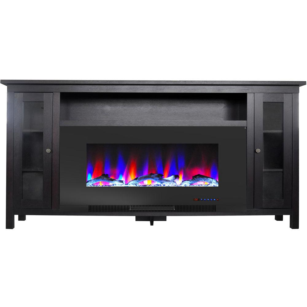 Cambridge Somerset 70 In Black Electric Fireplace Tv