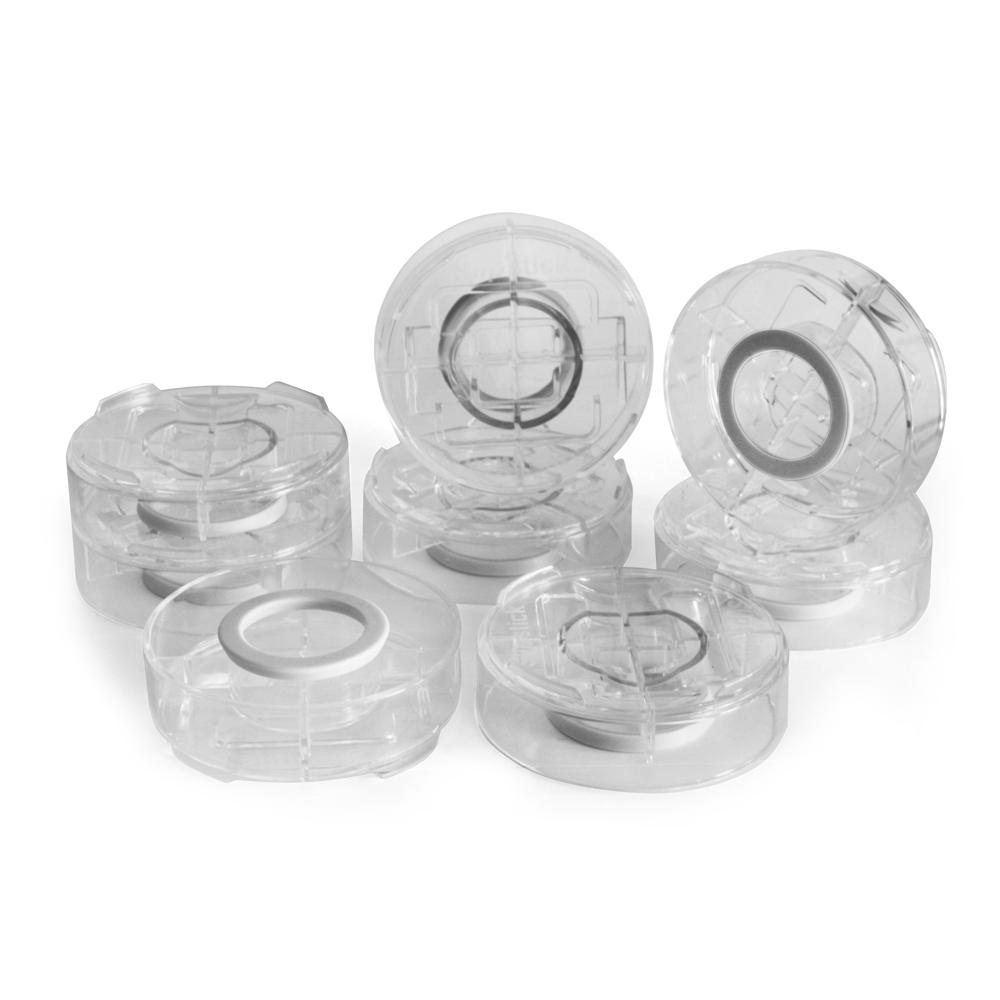 SlipStick StackIts Clear Stackable Furniture Risers 8-Pack