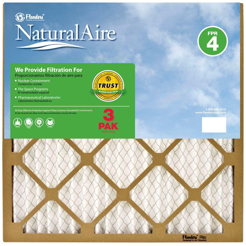 NaturalAire 12 in. x 20 in. x 1 in. Standard FPR 4 Pleated Air Filter (3-Pack)