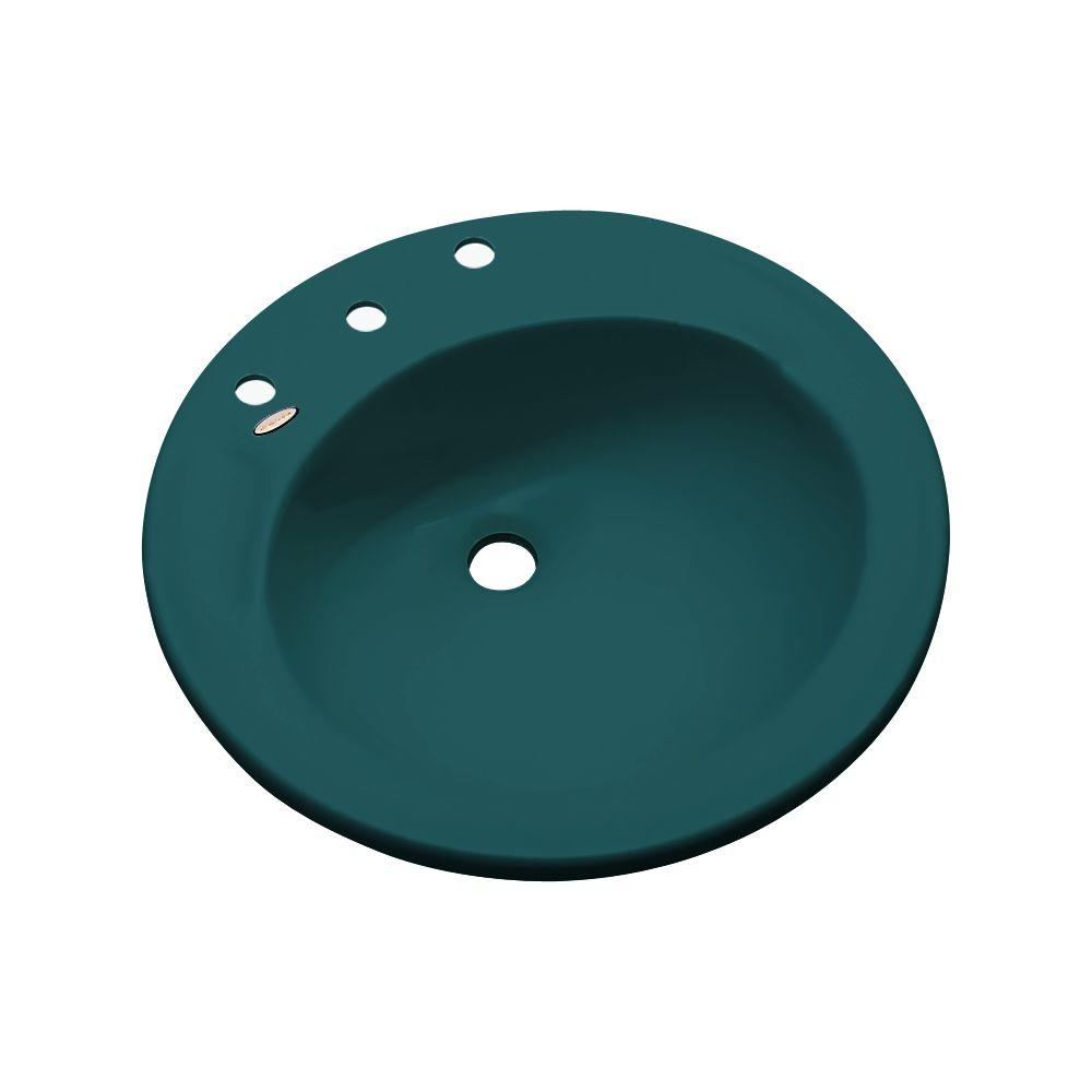 Province Drop-In Bathroom Sink in Teal