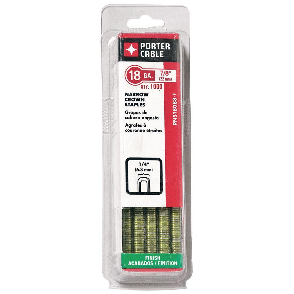 Porter-Cable 18-Gauge x 7/8 in. Narrow Crown Staple 1000 per Box