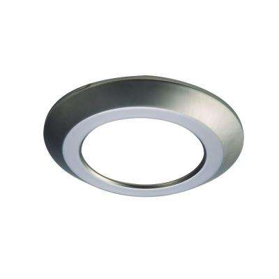 SLD 6 in. Satin Nickel Recessed Lighting Retrofit Replaceable Trim Ring