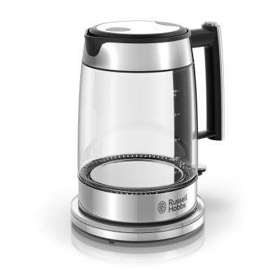 Glass 5-Cup/1.7 l Electric Kettle in Silver and Stainless Steel