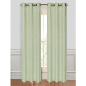 84 inch Alivia Textured Grommet Curtain Panel Pair in Seafoam (2-Pack) by