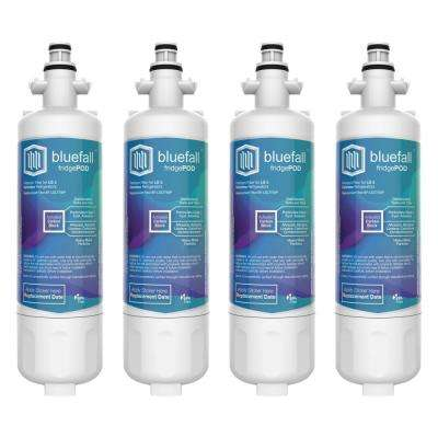4 Compatible Refrigerator Water Filters Fits LG LT700P and Kenmore 46-9690 (Value Pack)