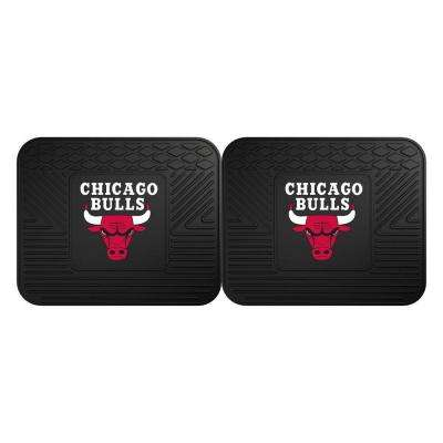 NBA Chicago Bulls Black Heavy Duty 2-Piece 14 in. x 17 in. Vinyl Utility Mat