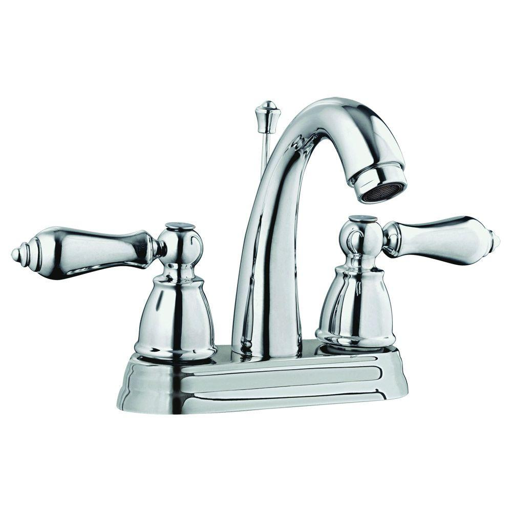 Design House Hathaway 4 in. Centerset 2-Handle Bathroom Faucet in Polished Chrome