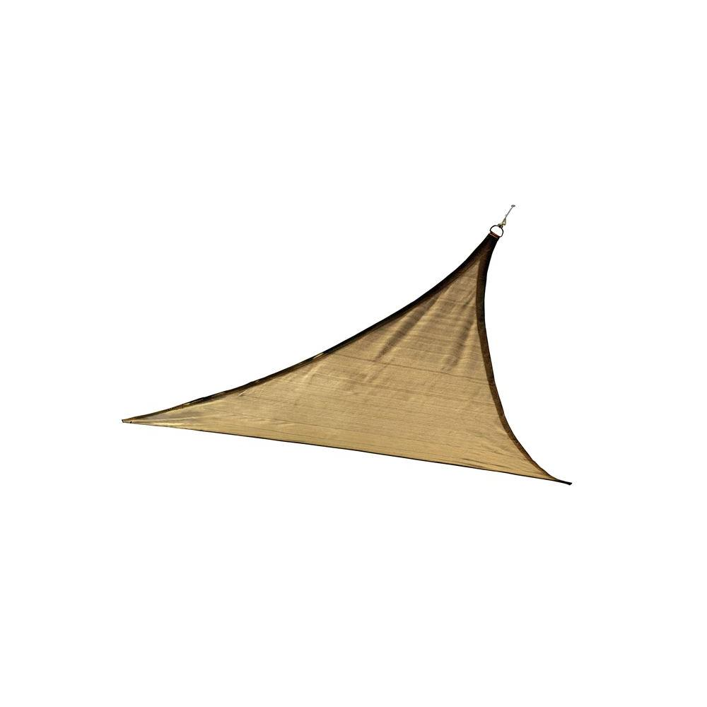 12 ft. x 12 ft. Sand Triangle Sun Shade Sail (Poles