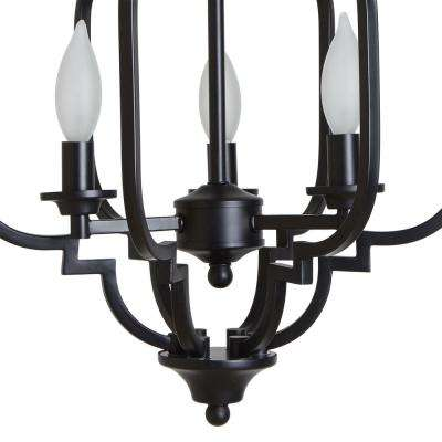 Paxton 3-Light Black Semi-Flush Mount Light