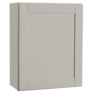 Shaker Assembled 24x30x12 in. Wall Kitchen Cabinet in Dove Gray