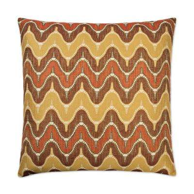Impressive Spice Feather Down 24 in. x 24 in. Standard Decorative Throw Pillow