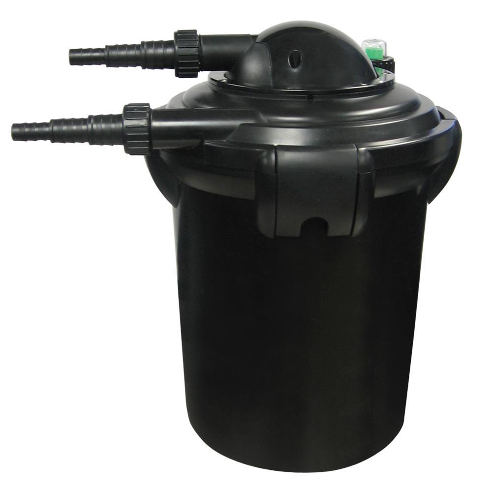Pond Filter PressureFlo with 9-Watt 1000 Gal. Plastic Pond Filter