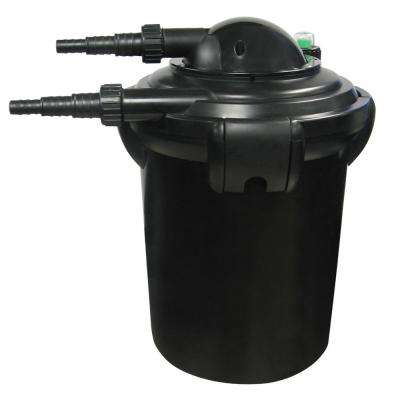 Pond Filter PressureFlo with 9-Watt 1000 Gal. Plastic Pond Filter