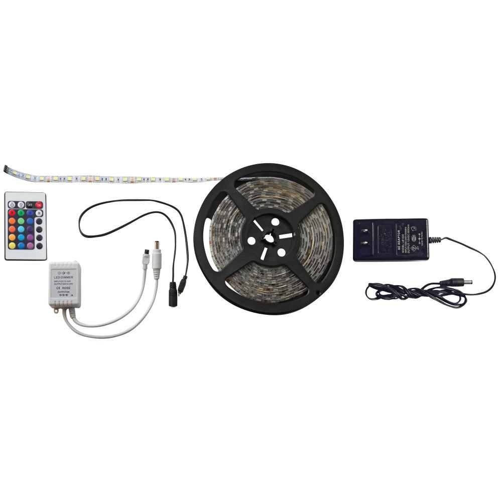 valterra 33 ft  led strip light kit in multi-color-dg52694