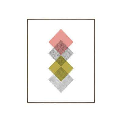 "31.25 in. x 25.25 in. ""Concentric IV"" by Bobby Berk Printed Framed Wall Art"