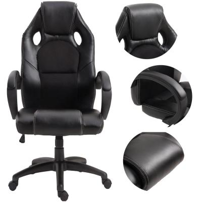 Racing Black Chair Swivel Executive Computer Chair Headrest and Lumbar Support