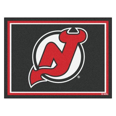 NHL New Jersey Devils Black 8 ft. x 10 ft. Indoor Area Rug