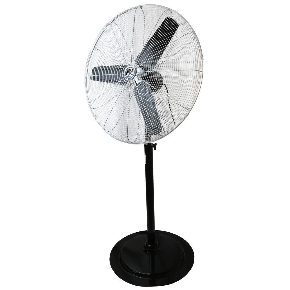 60 in. to 84 in. Adjustable Height 30 in. Pedestal Fan