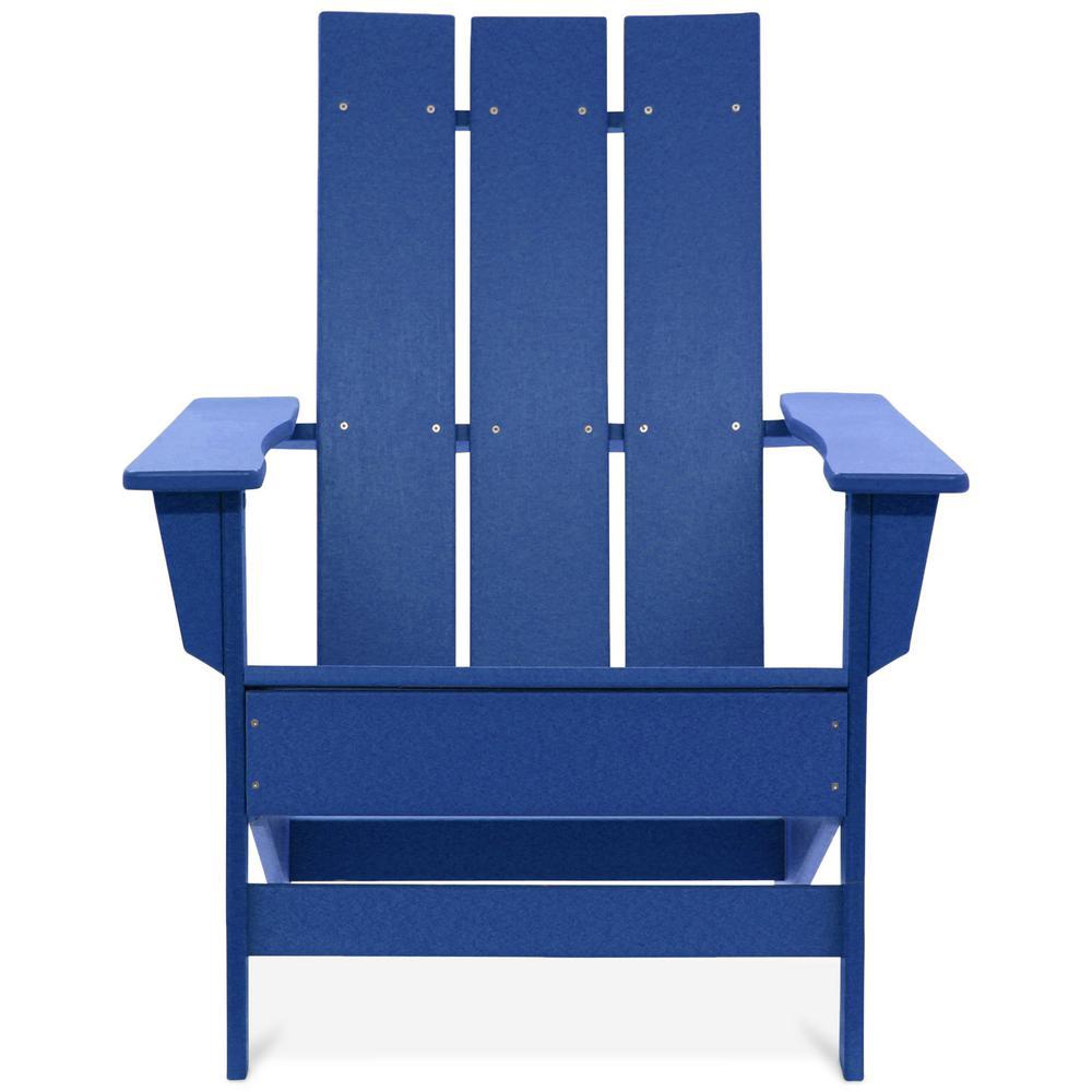 Aria Royal Blue Recycled Plastic Modern Adirondack Chair