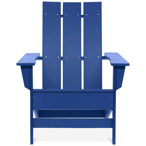 Aria Royal Blue Recycled Plastic Modern Adirondack Chair