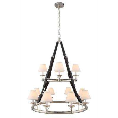 Cascade 12-Light Polished Nickel Pendant Lamp