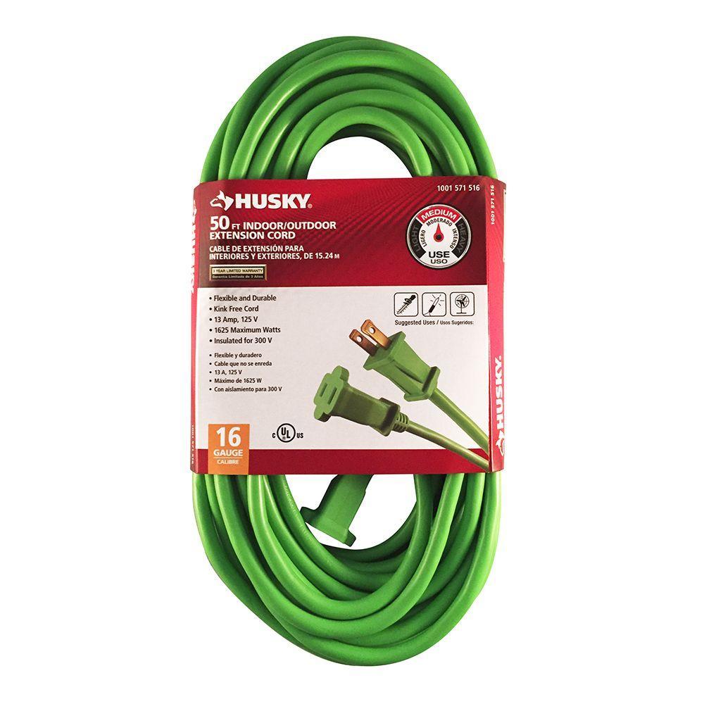 50 ft. 16/2 Indoor/Outdoor Extension Cord, Green