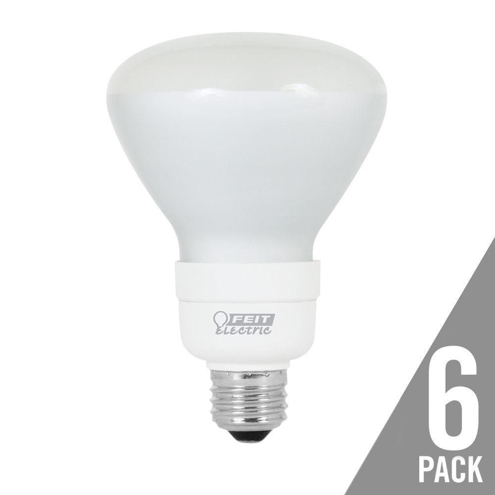 65-Watt Equivalent Soft White (2700K) BR30 CFL Flood Light Bulb (6-Pack)