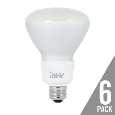 65-Watt Equivalent Soft White (2700K) BR30 CFL Flood Light Bulb (6-Pack)